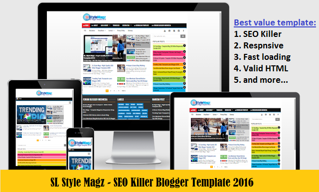 Template Blog SEO Friendly Responsive Fast Loading-sl style magz