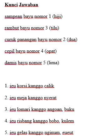 Unduh Soal dan Kunci Jawaban PAS Bahasa Sunda Kelas 1 ...