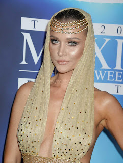 Joanna Krupa Almost naked attends Maxim Halloween party 2017 WOW Ass Boobs Nipples