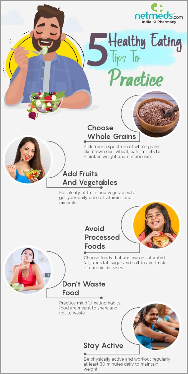 5 Successful Healthy Eating Habits To Practice #infographic #Healthy Eating #Eating Habits