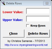 Delete Rows Based On ActiveCell's Value (Excel Add-In)