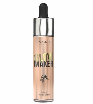 Iluminator lichid INGRID Cosmetics Vegan Collection Glow Maker, 02, 20 ml