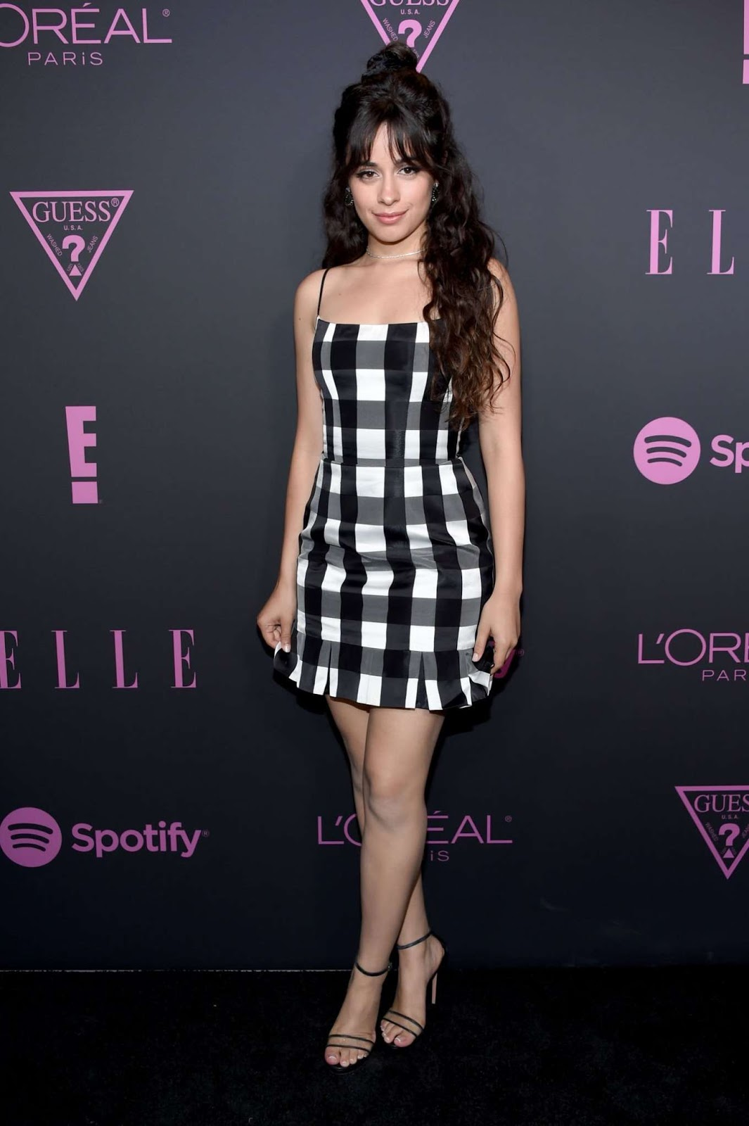 Camila Cabello wears chic plaid dress to the Elle Women in Music event