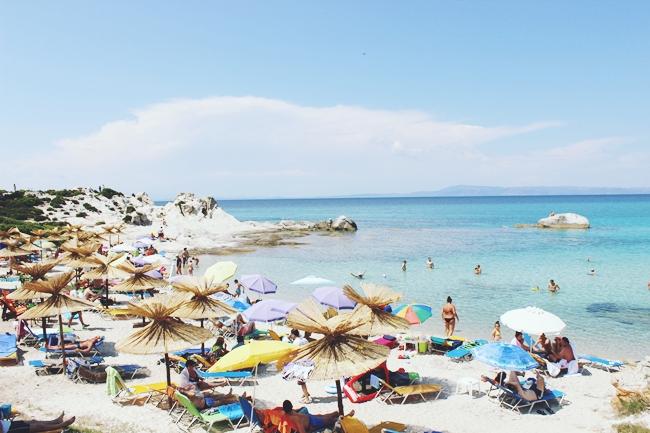 Sarti plaze Halkidiki