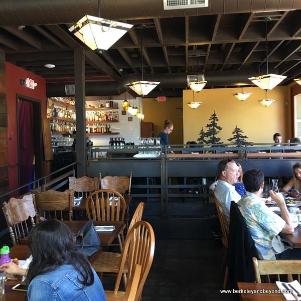 interior of Cafe Eugene in Albany, California