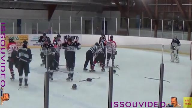 Un entraîneur de hockey frappe un arbitre issouvideo