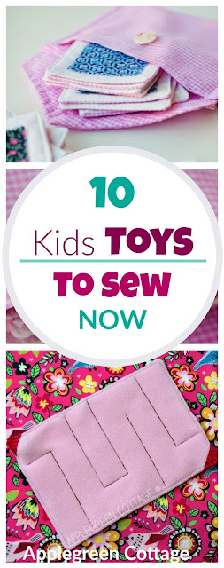 Beginner sewing tutorials and free sewing patterns. Make a perfect DIY present for kids from these 10 free tutorials and patterns for fun kid toys to sew.
