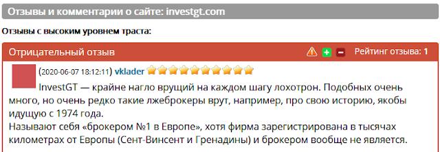 Компания InvestGT мошенники