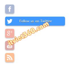 Mạng xã hội theo dõi với hiệu ứng rê chuột cho blogspot thủ thuật