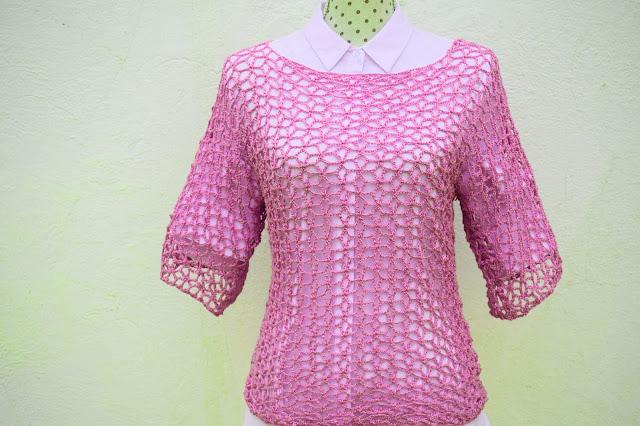2 - Crochet Imagen Blusa playera a crochet y ganchillo por Majovel crochet