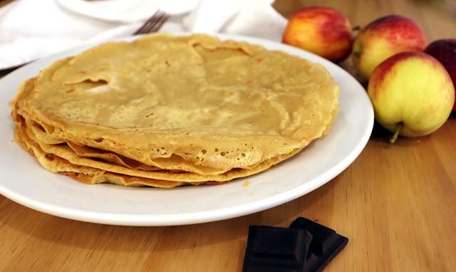 Café da manhã mais saudável com meu crepe fácil sem trigo e vegano (receita francesa)