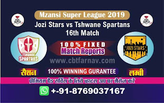 Mzansi Super League Spartans vs Jozi 16th MSL T20 2019 Match Prediction Today Reports