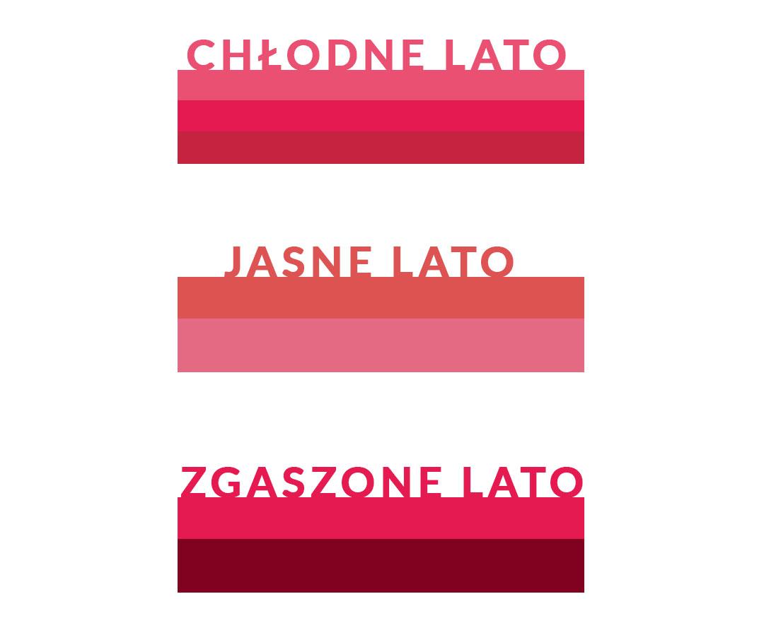 odcienie czerwieni dla letnich typów kolorystycznych