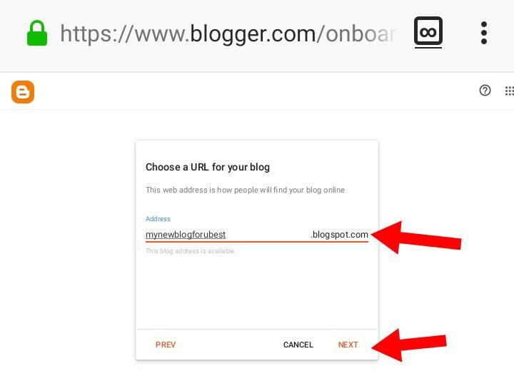 Choose-blog-url