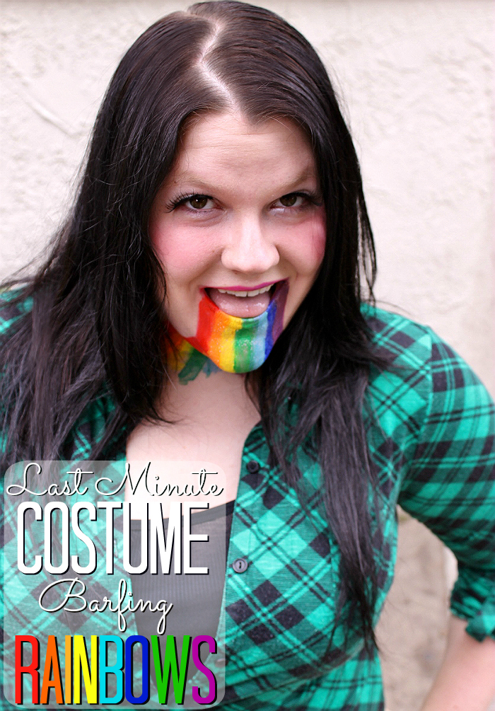 Last Minute Costume- DIY Barfing Rainbows Makeup- Take the #HallowCleanFaceOff Challenge with Neutrogena Makeup Remover Cleansing Towelettes from Walmart (ad)