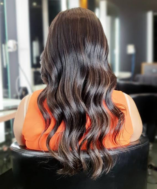 Mushroom balayage asian hair