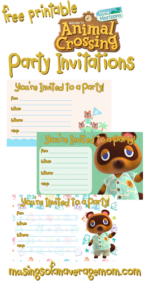 free animal crossing birthday printables