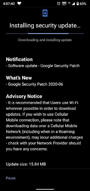 Nokia 3.2 receiving June 2020 Android Security patch