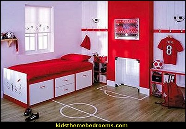 soccer theme bedrooms-football theme bedrooms sports  bedroom decorating