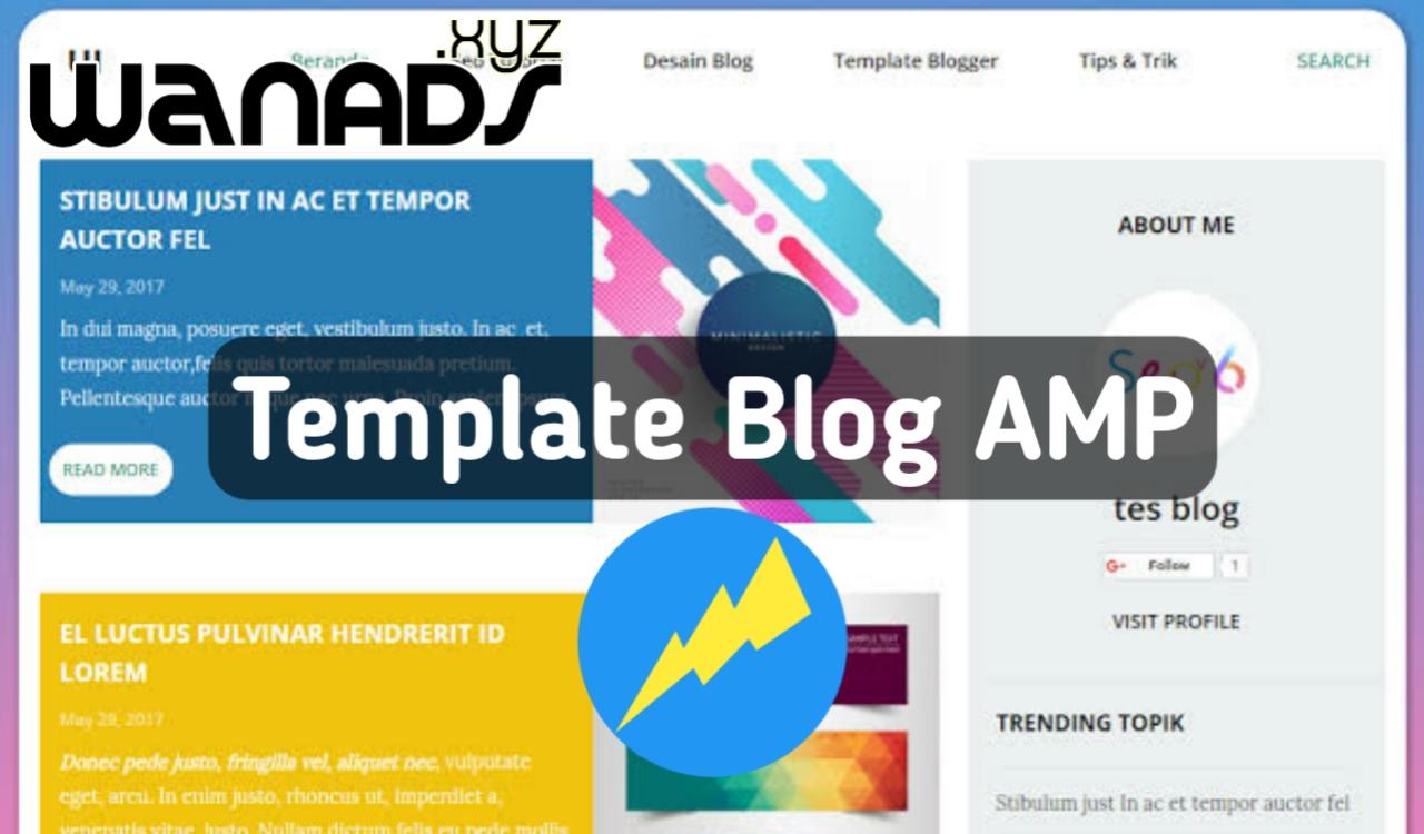 Rekomendasi Template AMP