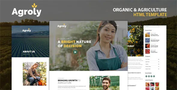 Best Organic & Agriculture Food HTML Template