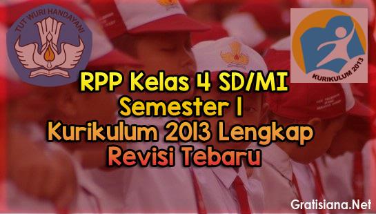 Contoh RPP Kelas 4 SD/MI Semester 1 Kurikulum 2013