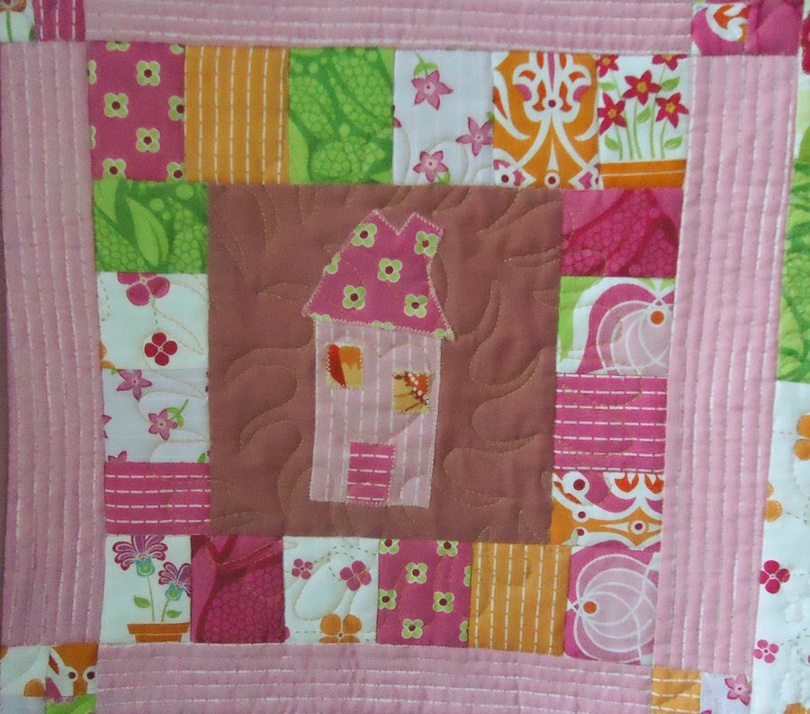 Quilted using a template