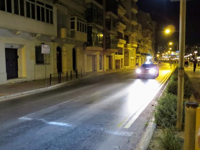Crazy taxi driver in Valletta Malta