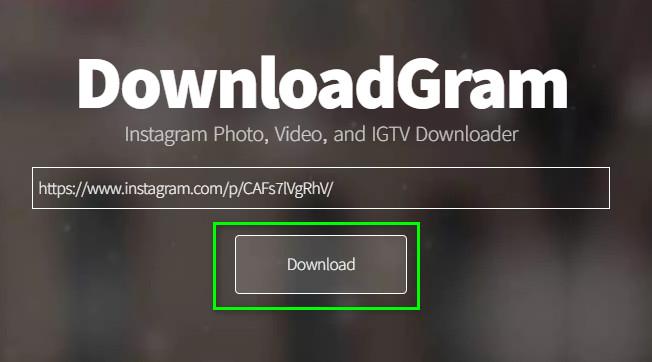 Memasukkan Tautan Postingan Instagram Di Downloadgram