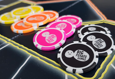 Big Potato Games Which Came First betting chips in 4 different colours