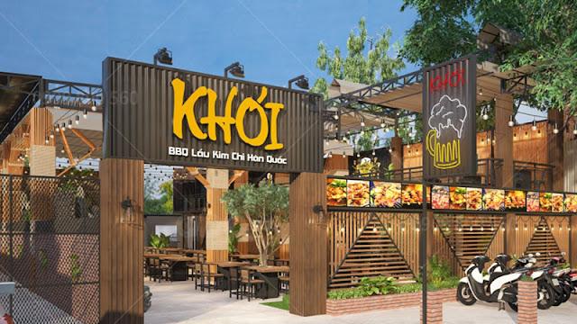 Nhà hàng Khói - Thiết kế và thi công đơn vị QDC