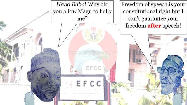 EFCC boss Ibrahim Mustafa Magu, ostensibly abuses Abubakar Sidiq Usmans inherent right to free speech