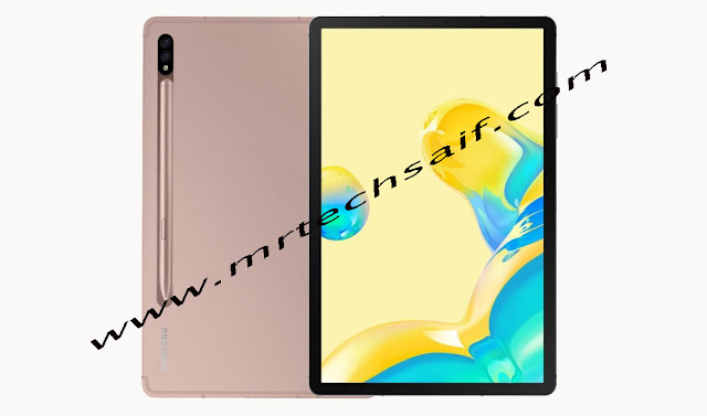 Samsung Galaxy 5G Tab S7+ processor Qualcomm Snapdragon 865+ chipset & Adreno 650 graphic, 12.4 inches Super AMOLED 1752 x 2800 pixels display. Samsung galaxy tab s7 plus launch 3 models variant 512GB storage 8GB RAM n 256GB build-in 8GB RAM and 128GB internal memory with 6GB Ram. Samsung galaxy tablet s7 + 13 megapixels main rear dual camera setup and selfie camera 8 MP. Samsung Galaxy Tab S7 Plus 10090 mAh battery & fast battery charging 45w. Samsung new 5g tablet s7 plus full detailed review and speecifications n price. specs by mrtechsaif. price and release date in pakistan n india or usa united states