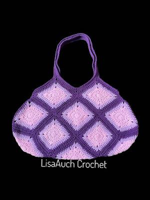 granny sqaure crochet bag pattern FREE