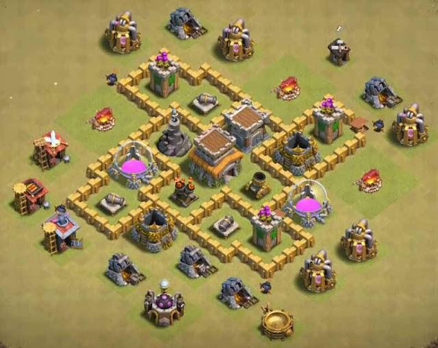 Base COC TH5 War 4