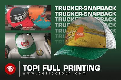 Topi Full Printing Custom Desain Suka Suka - Trucker Snapback Custom
