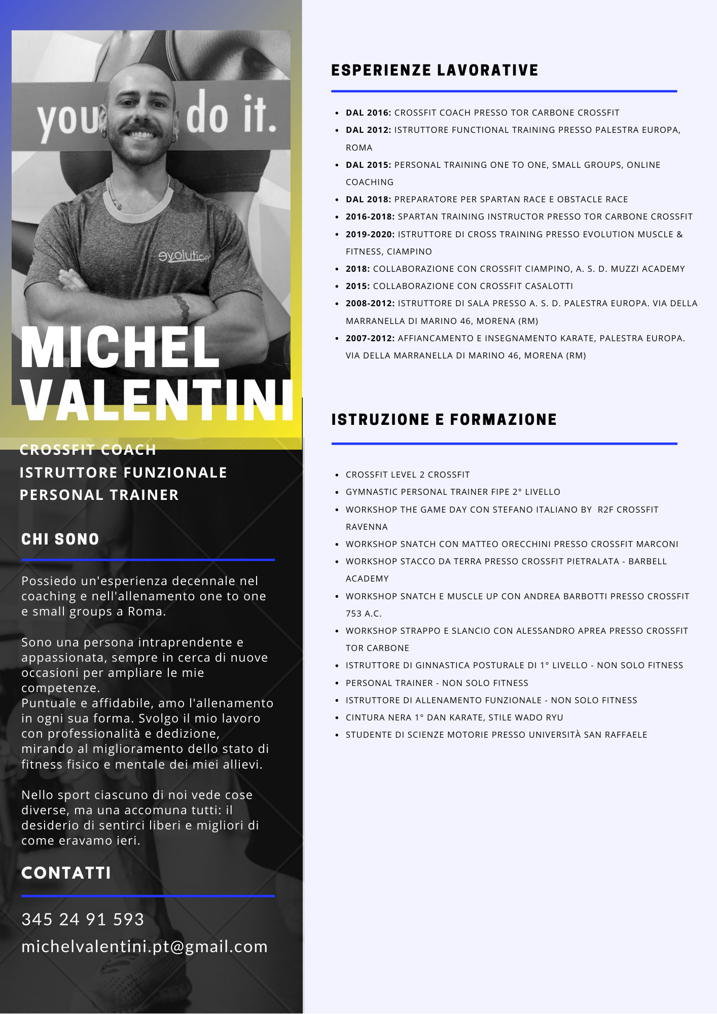 Personal Trainer Ciampino - Michel Valentini