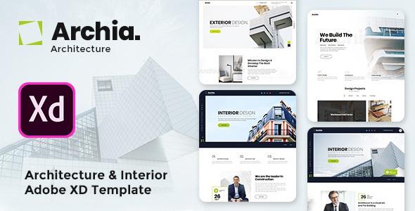 Architecture & Interior Adobe XD Template