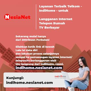 Pasang Baru IndiHome Sekarang Cuma 240rb Perbulan - Mataram Lombok NTB