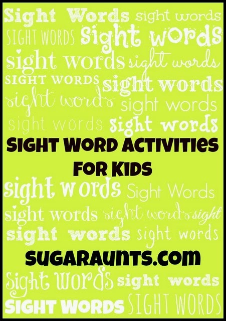 Lots of activities to practice Kindergarten sight words