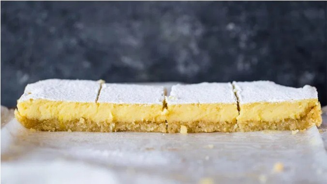 Creamy Low Carb Keto Friendly Lemons Bars