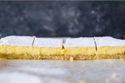 Recipe: Creamy Low Carb Keto Friendly Lemon Bars