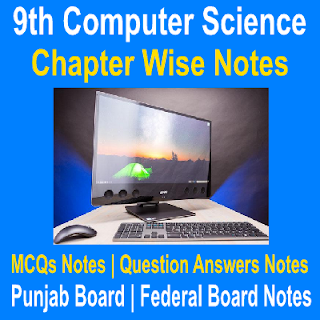 Chapter One Computer Science Ninth Class Notes Solved MCQs and Short Question Answers