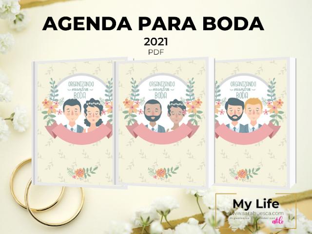 AGENDA, BODA, PLANIFICAR, 2021, PDF, DESCARGAR