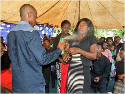 Shock After Pastor Sprays Congregation With Doom (Insecticide) To Heal Them (Photos)