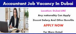 Account Assistant Job Vacancy in Dubai, UAE Location