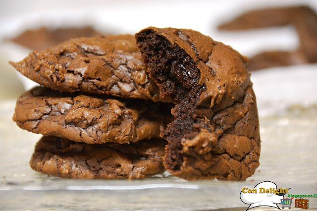 chocolate lava cookies עוגיות לבה שוקולד