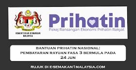 Bantuan Prihatin Nasional: Pembayaran Rayuan Fasa 3 Bermula Pada 24 Jun