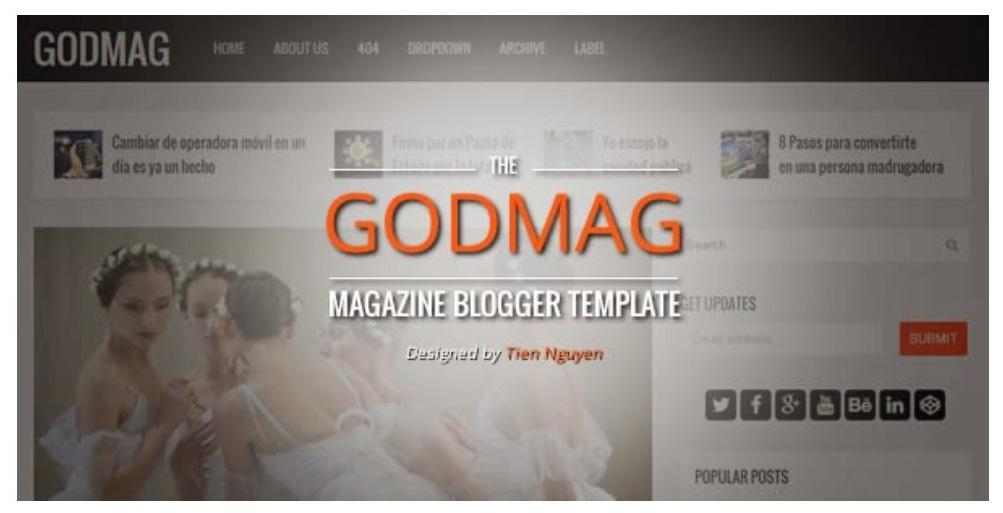 GodMag Magazine Blogger Template Free Download