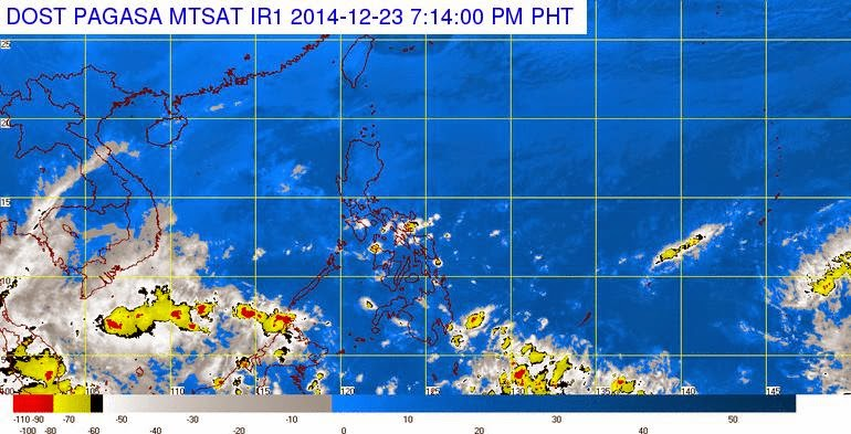 2014 Christmas Holidays Weather Forecast: LPA to enter PAR